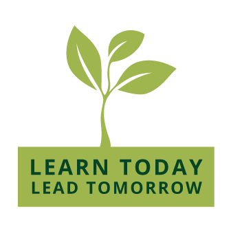 green learn today lead tomorrow seedling logo
